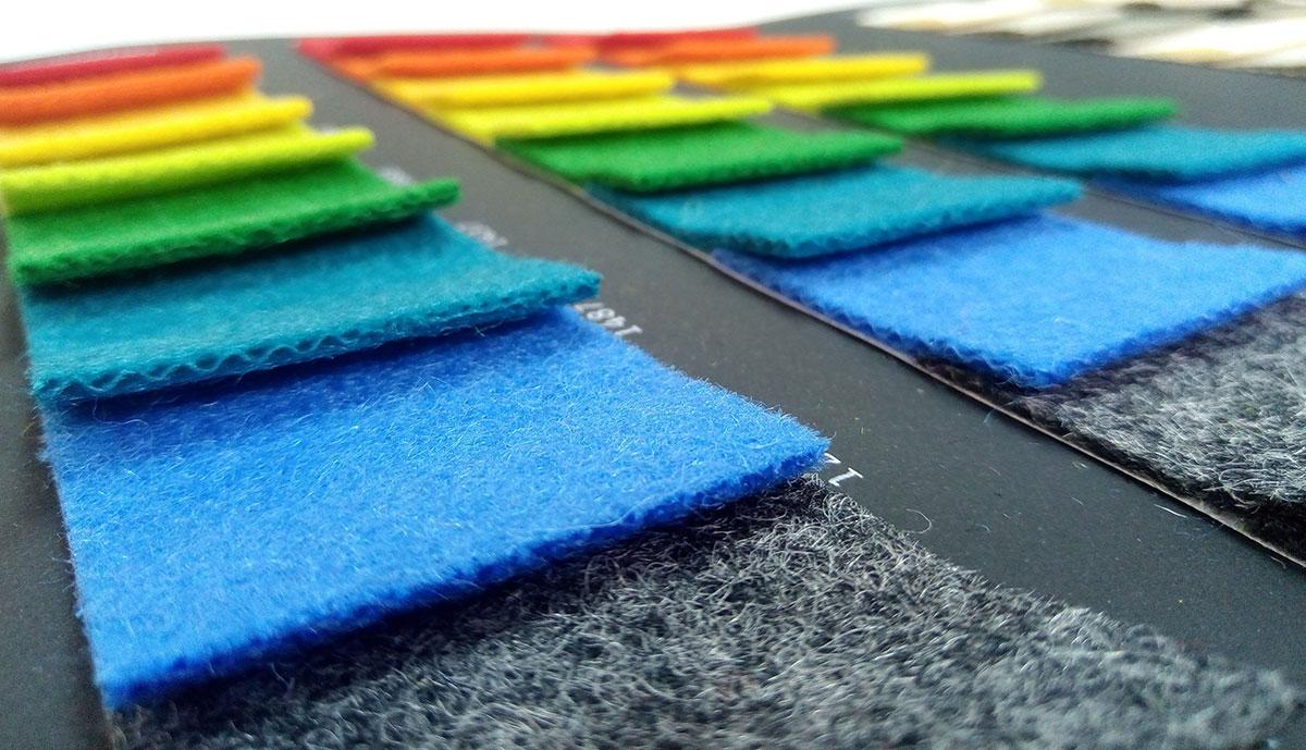 paletta di colori moquette