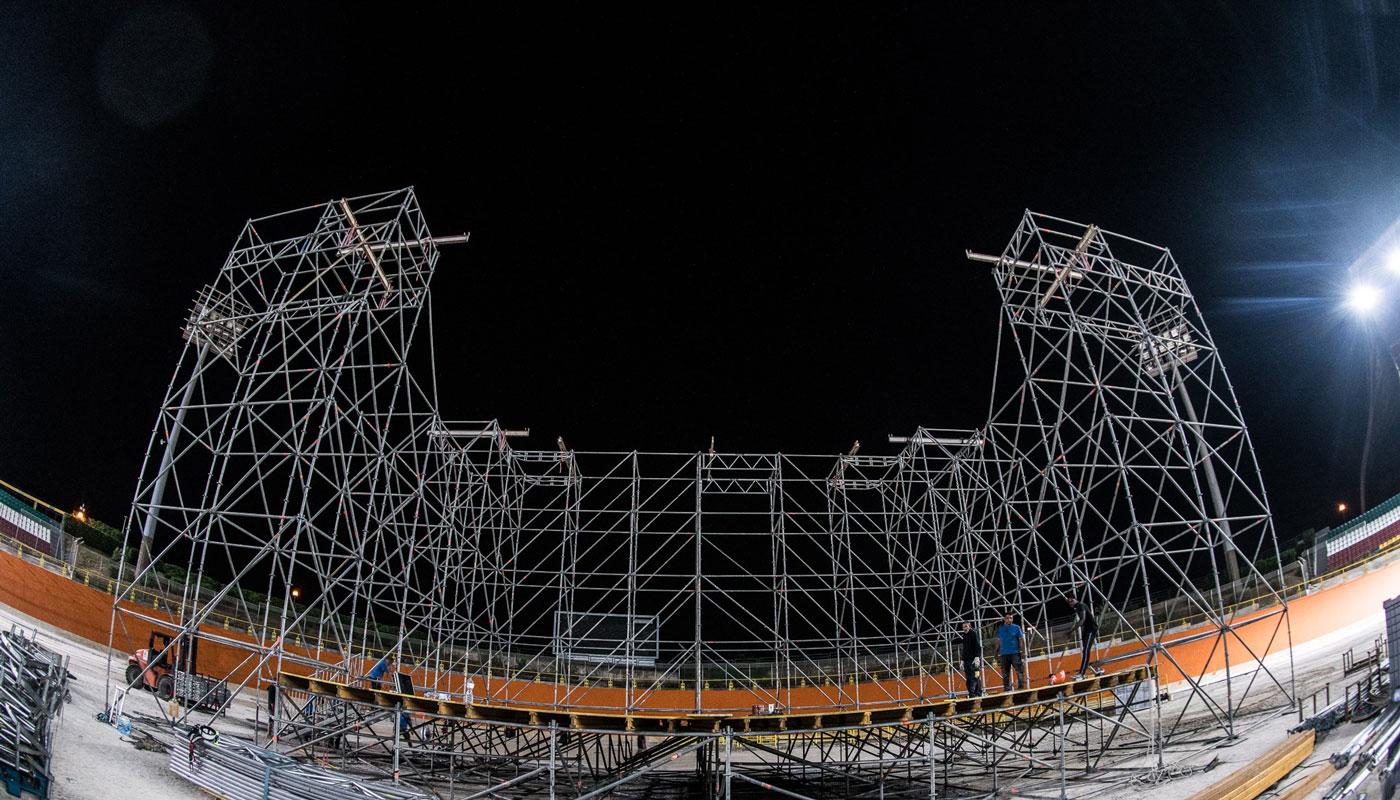 struttura per evento unlocked music festival