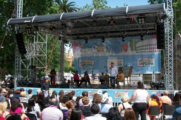 copertura palco per eventi all'aperto